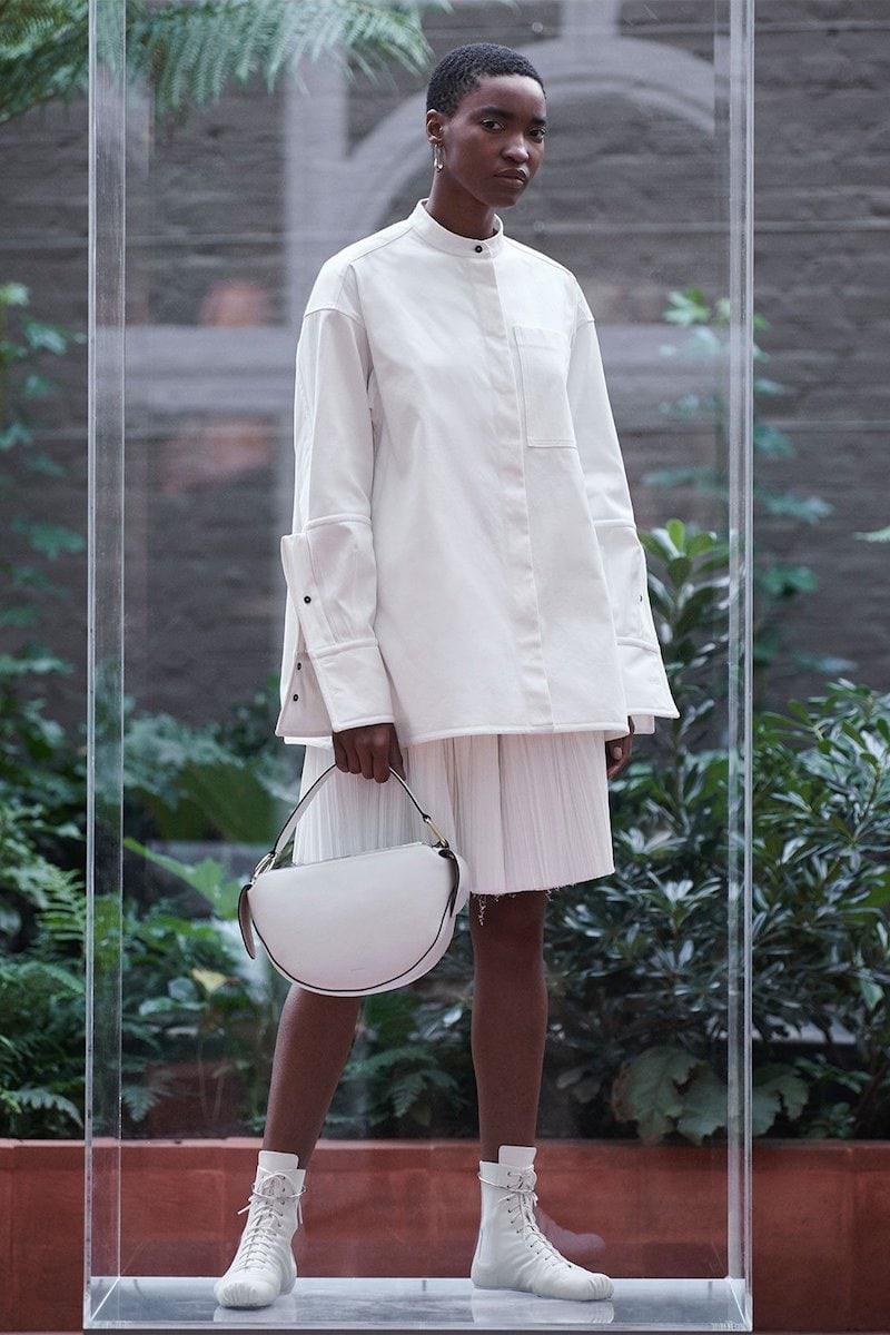 Jil Sander Gloria Exaggerated-Cuff Cotton-Poplin Shirt