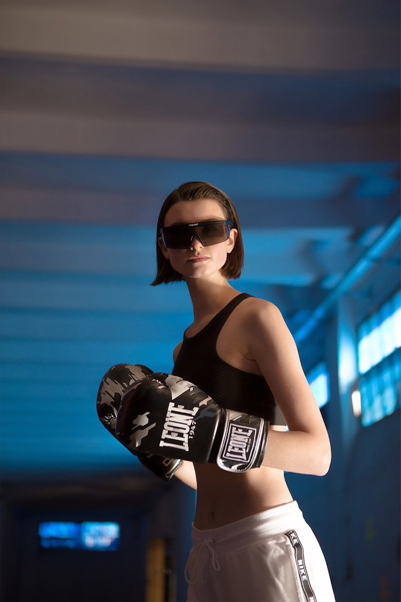 Leone 1947 10oz Camo Faux Leather Boxing Gloves