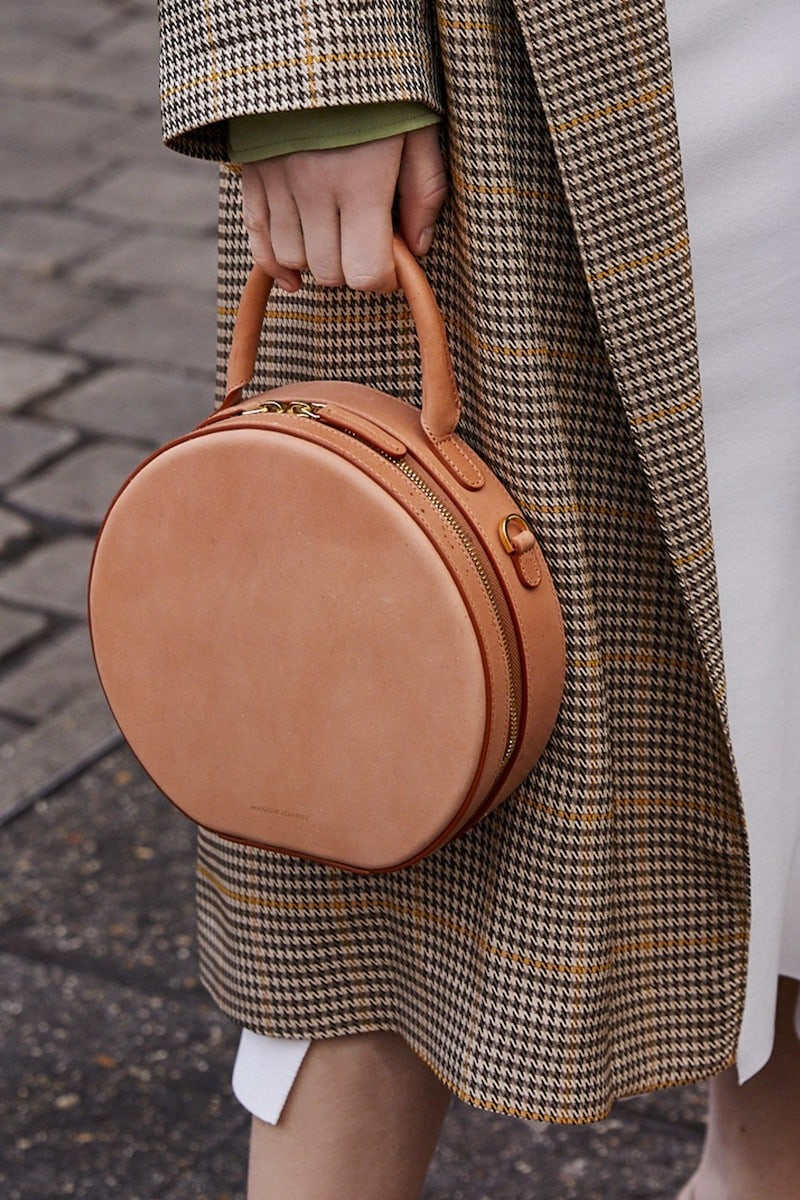 Mansur Gavriel Vegetable-tanned Leather Circle Crossbody Bag