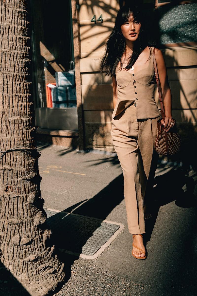 Mara Hoffman Dita Tencel and Linen-Blend Straight-Leg Pants