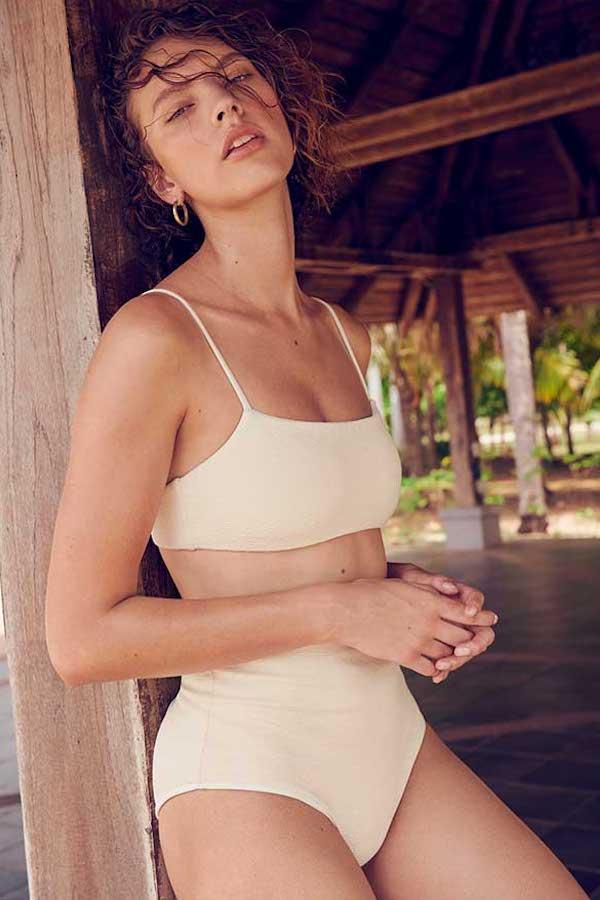 Mara Hoffman Sia Sqaure Bikini Top