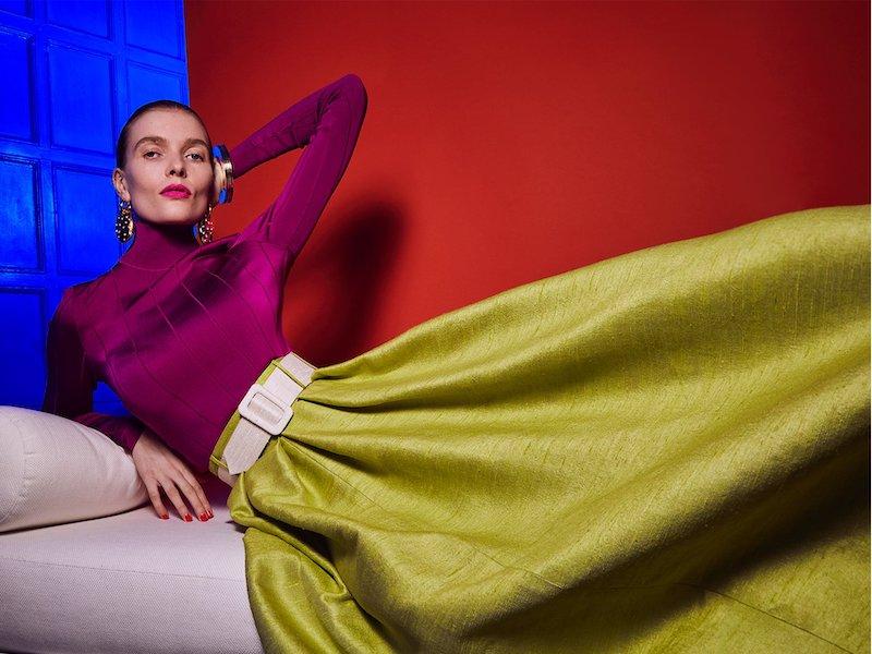 Marta Ferri High-Rise Silk-Bourette Belted Maxi Skirt