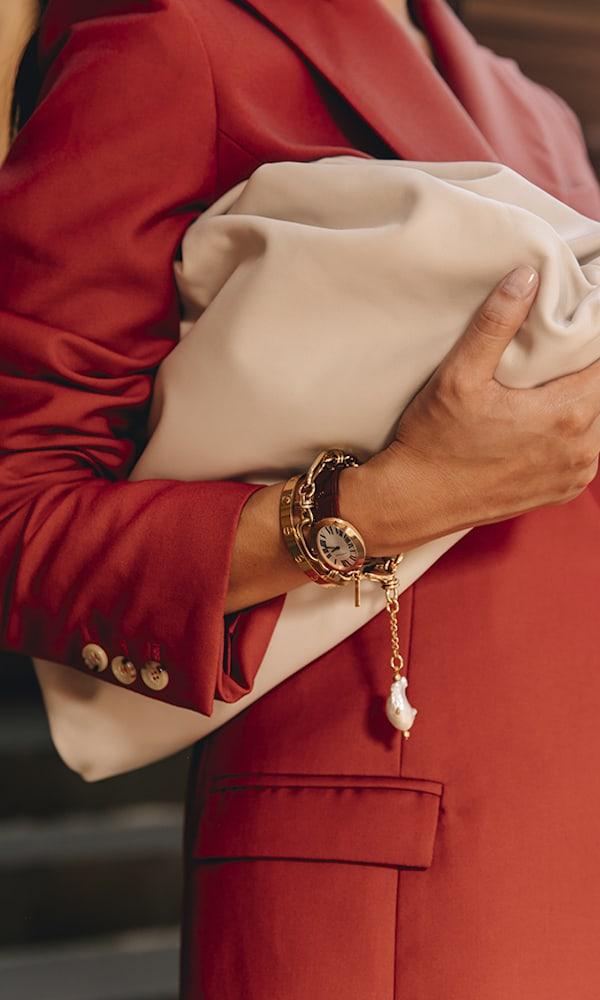 Mounser Hops Gold-Plated Pearl Bracelet