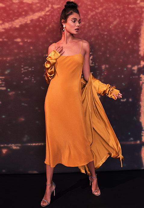 Olivia von Halle Artemis Silk Midi Slip Dress