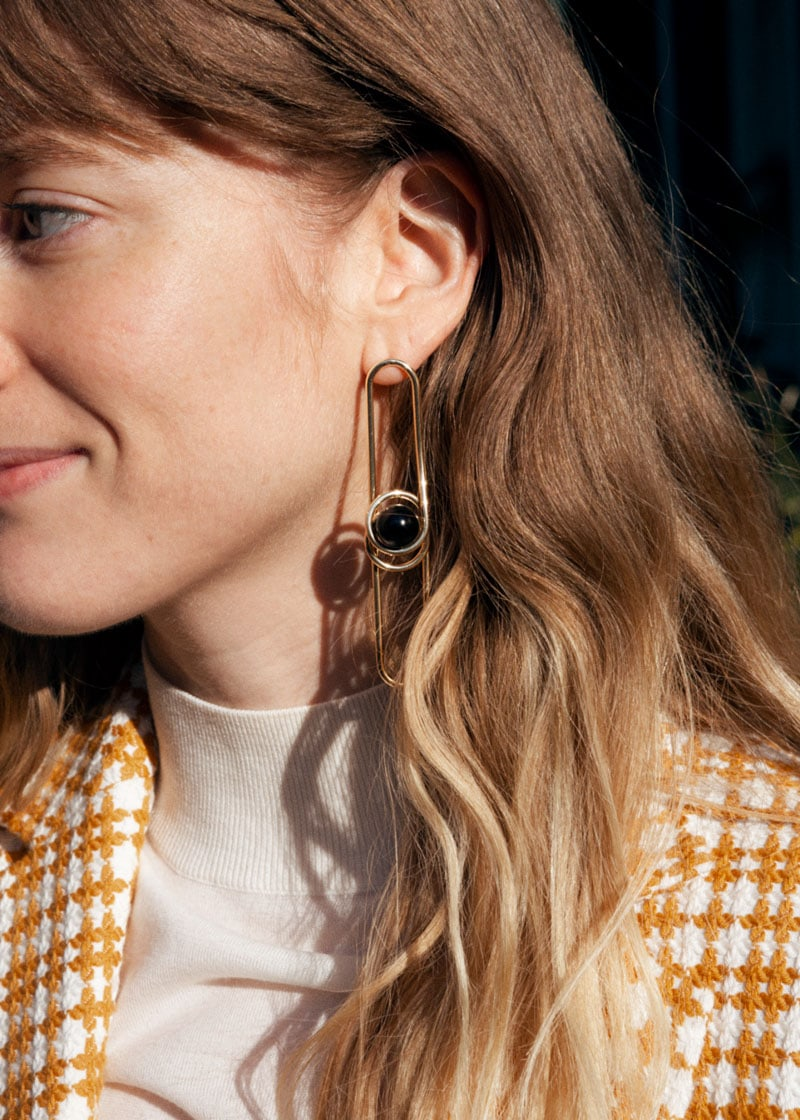 & Other Stories Asymmetric Sphere Wire Earrings
