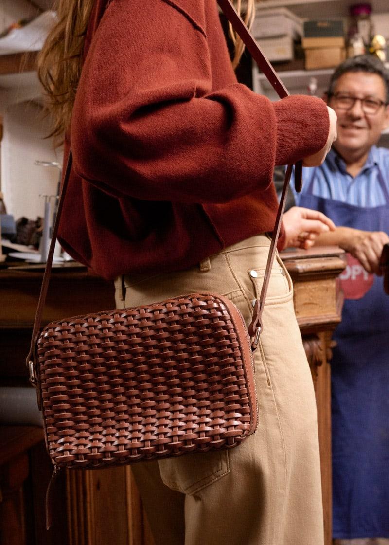 & Other Stories Basket Weave Crossbody Bag