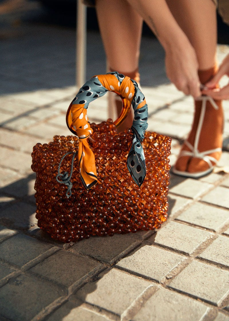 & Other Stories Circle Handle Beaded Bag