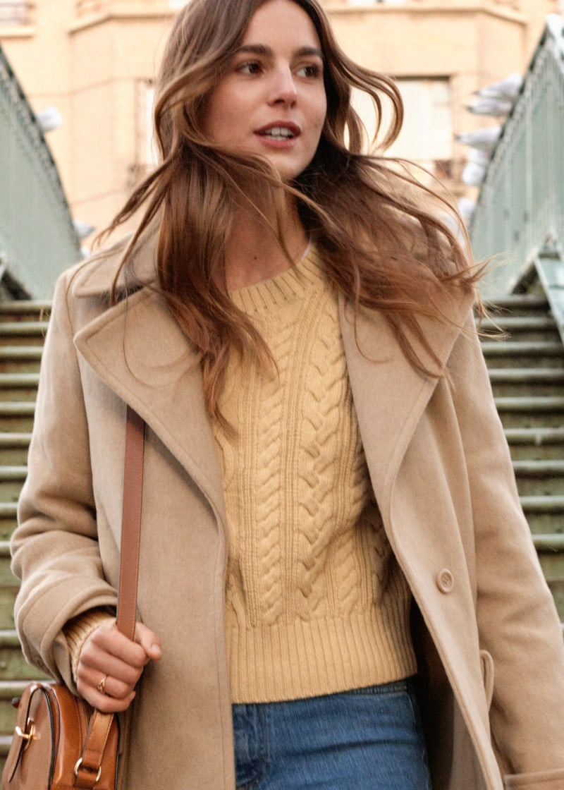 & Other Stories Cotton Cable Knit Sweater