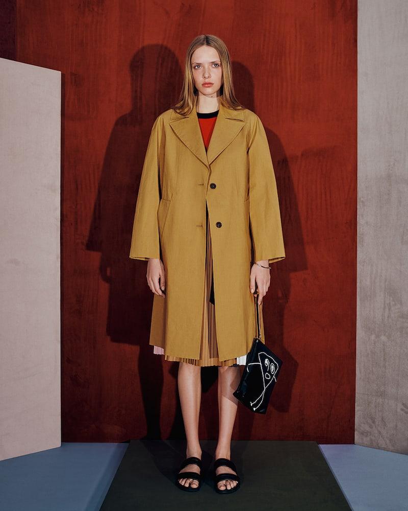 PLAN C Cotton Long Mackintosh Coat