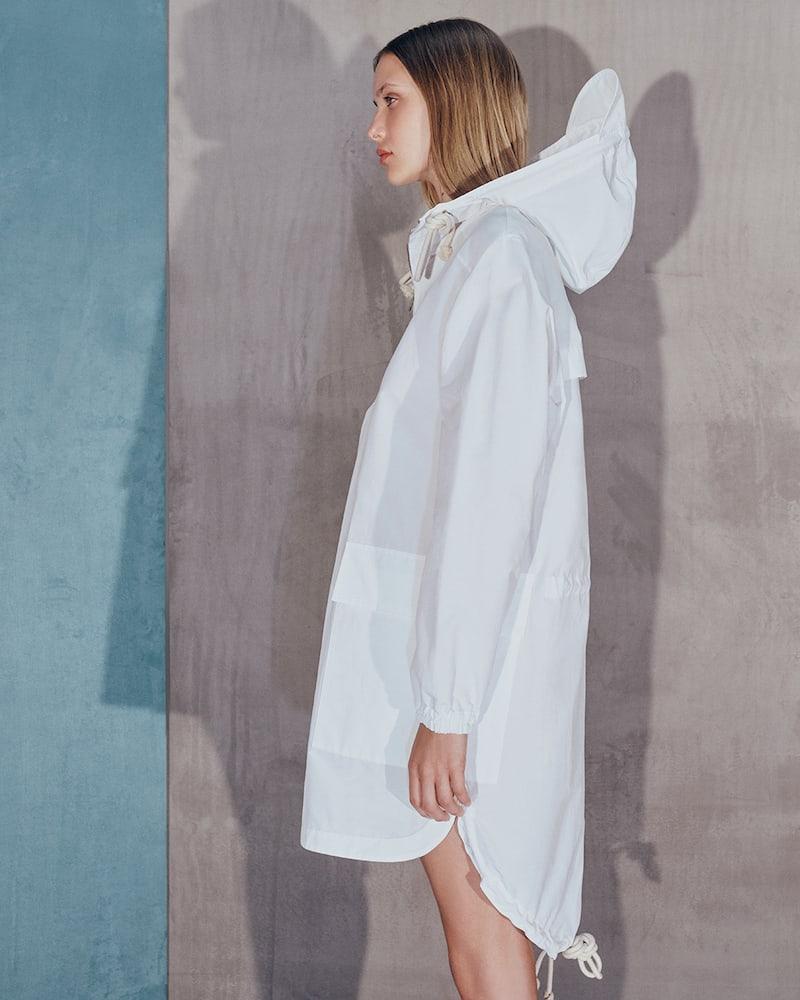 PLAN C Cotton Pullover Anorak
