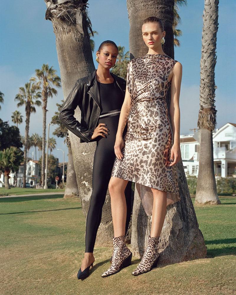 Paco Rabanne Leopard-Print Chain-Mail Dress