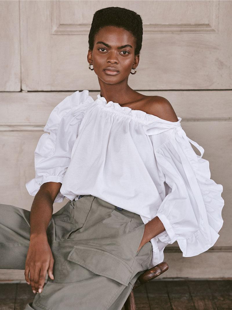 See by Chloé Combo Poplin Sleeve Blouse