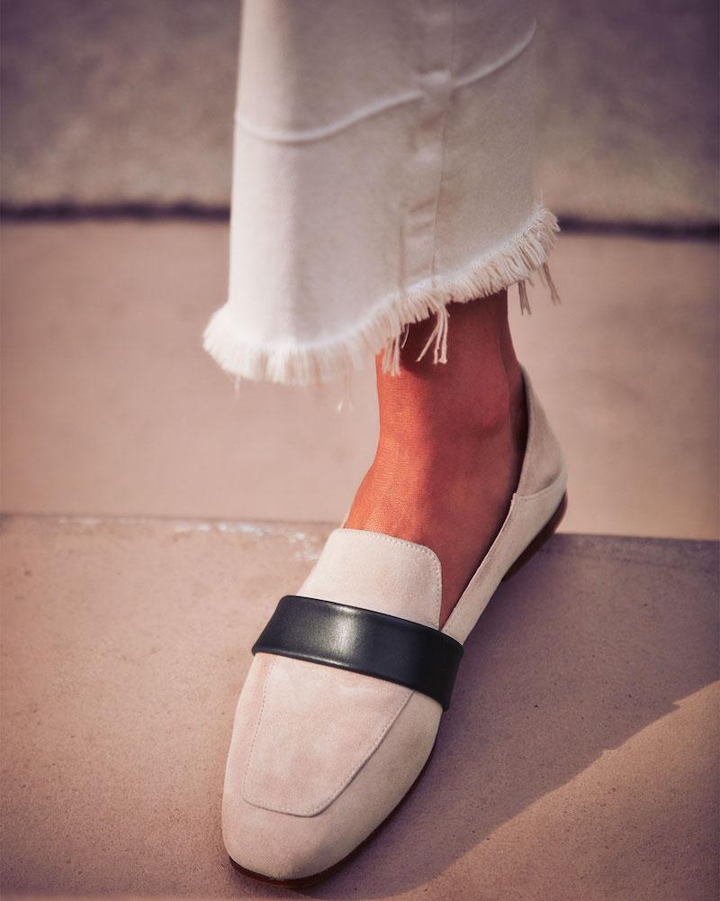 Stuart Weitzman Wylie Flat Suede Fold-Down Loafers