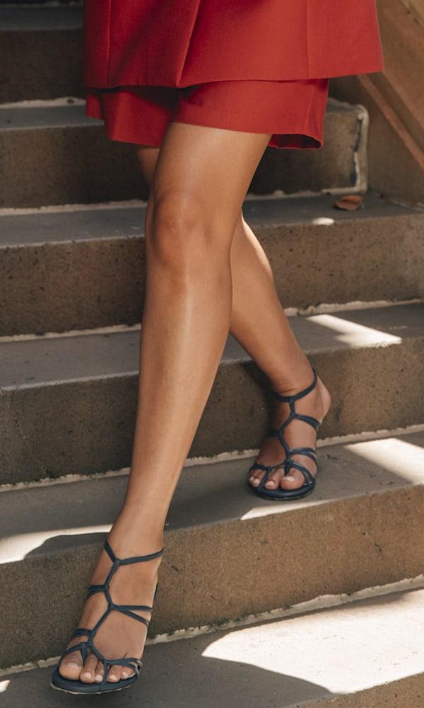TIBI Gavin Leather Sandals