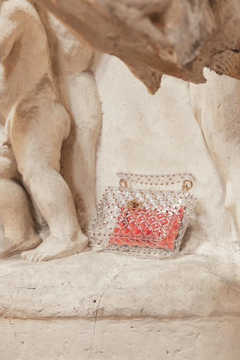 Valentino Garavani Medium Spike PVC Bag