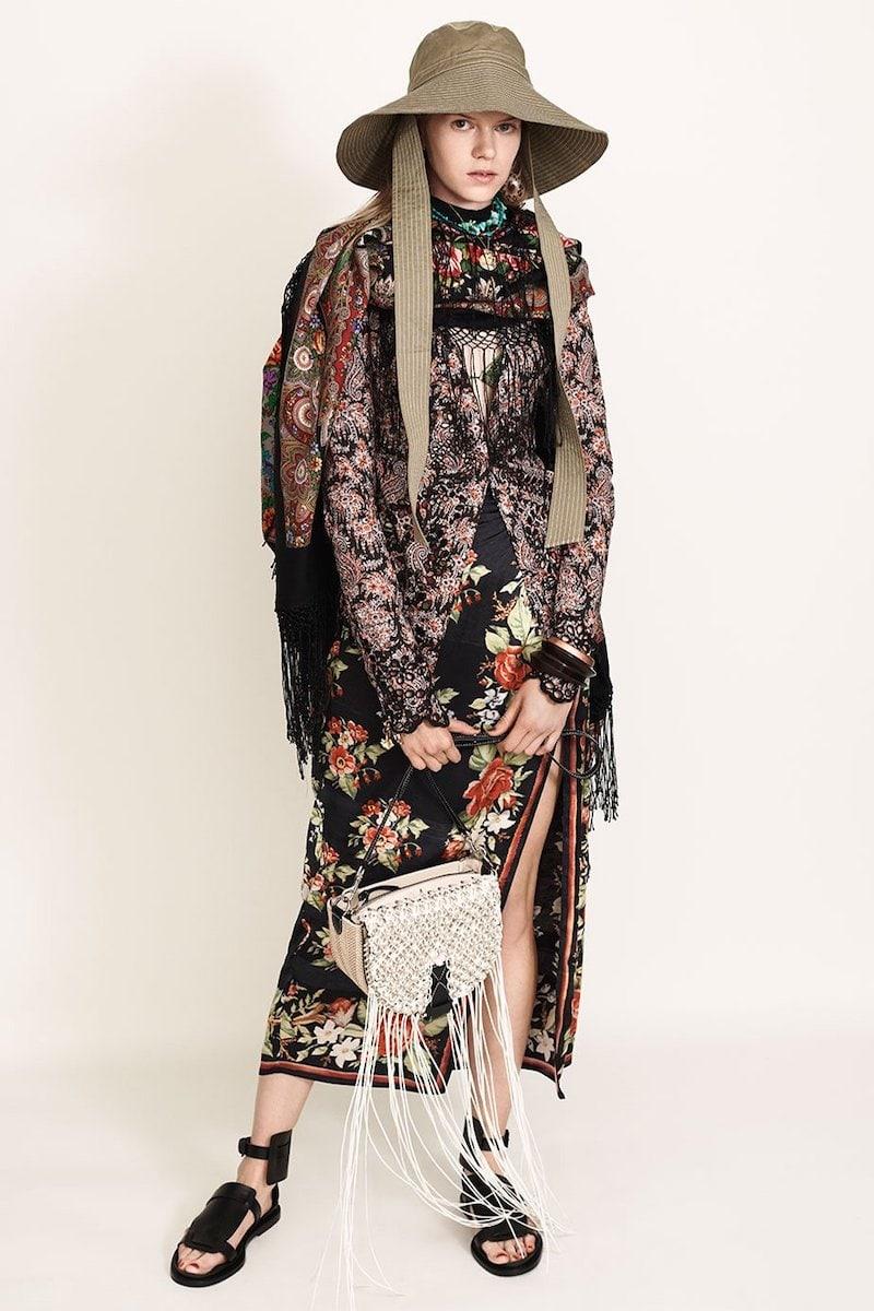 Vetements Tassel-Trimmed Hooded Double-Scarf Midi Dress