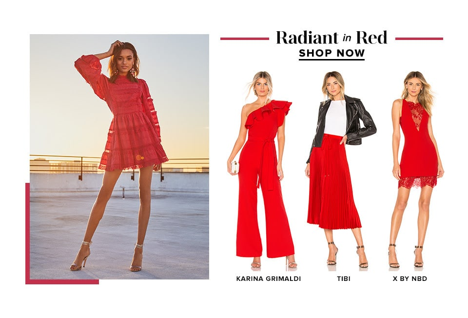 Radiant in Red. Shop Now.