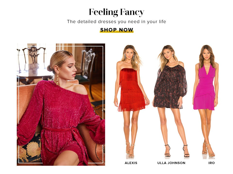 Feeling Fancy. The detailed dresses you need in your life. Shop Now.
