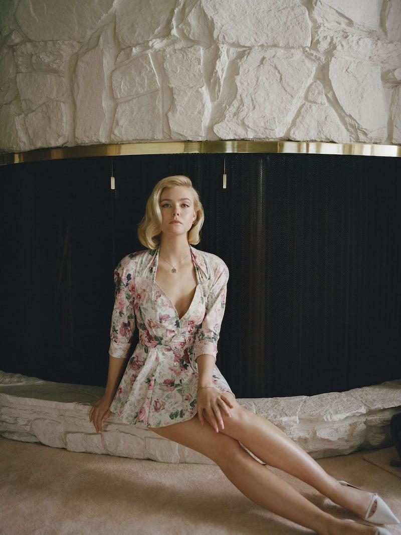 Attico Floral-Print Cotton-Blend Gabardine Mini Dress
