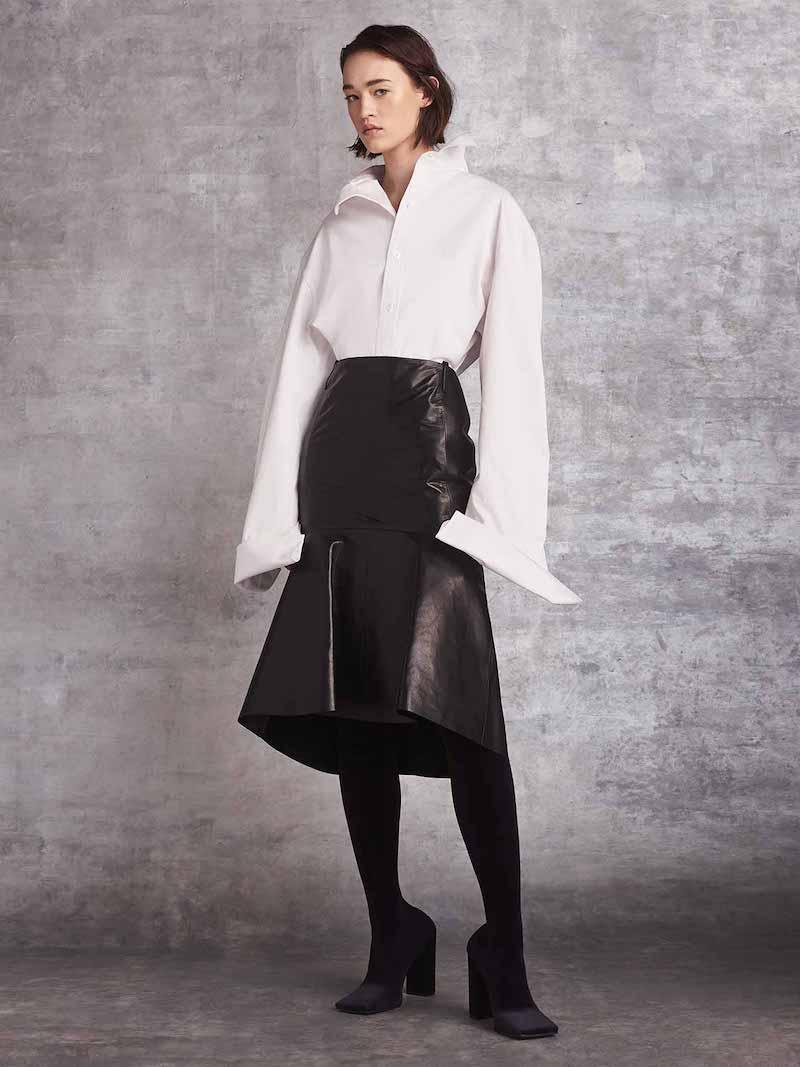 Balenciaga Long-Sleeve Workout Graphic Blouse