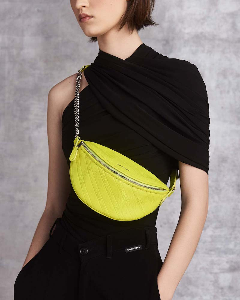 Balenciaga One-Shoulder Evening Top