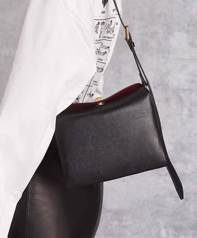 Balenciaga Small Shiny Leather Flap Shoulder Bag