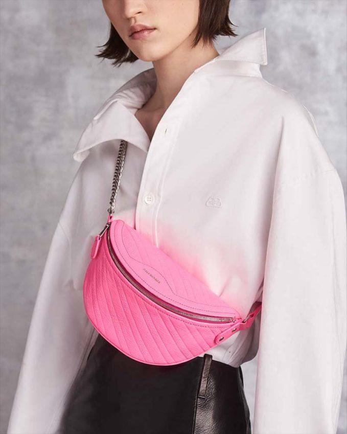 Balenciaga Souvenir XXS AJ Acid Logo Embossed Fanny Pack Bag