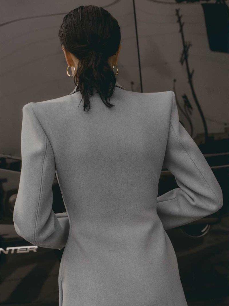 Balenciaga Structured Single-Breasted Denim Coat