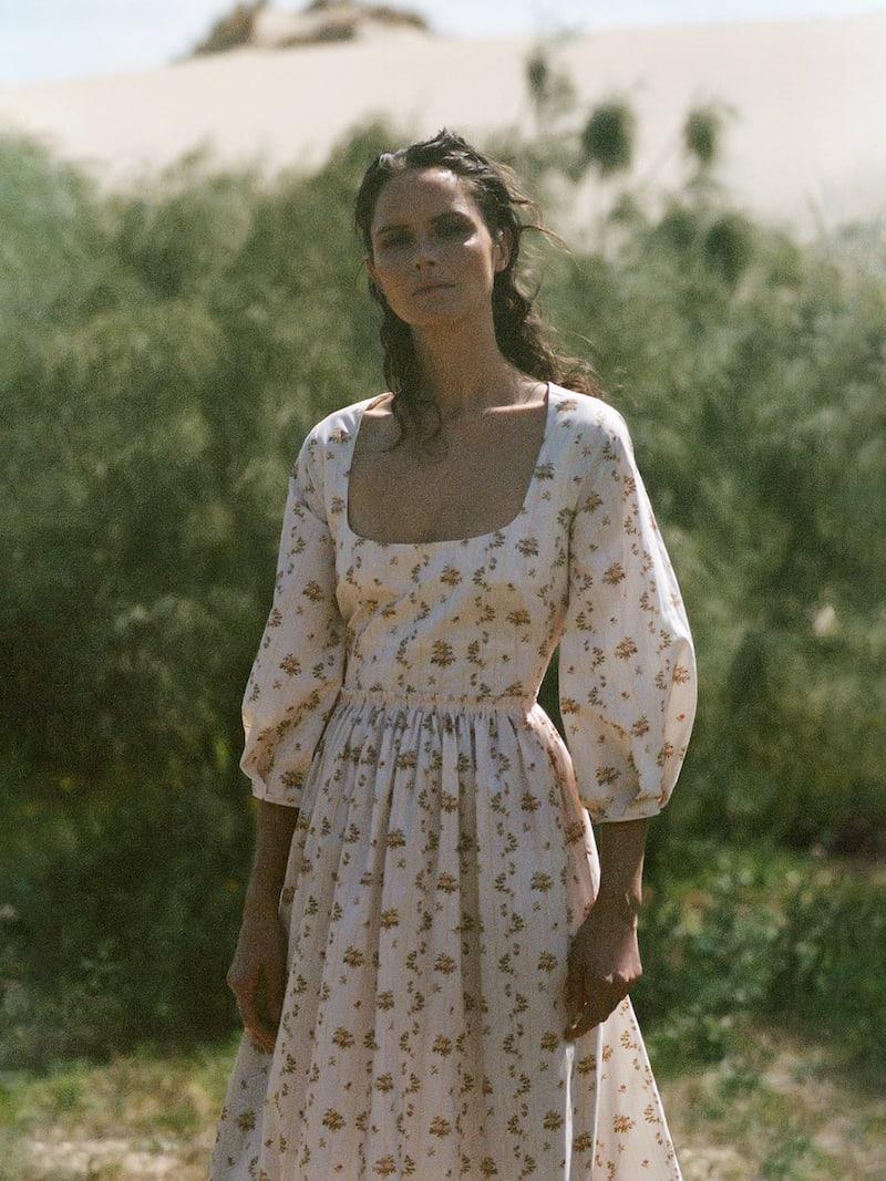 Brock Collection Floral-Print Cotton-Poplin Maxi Dress