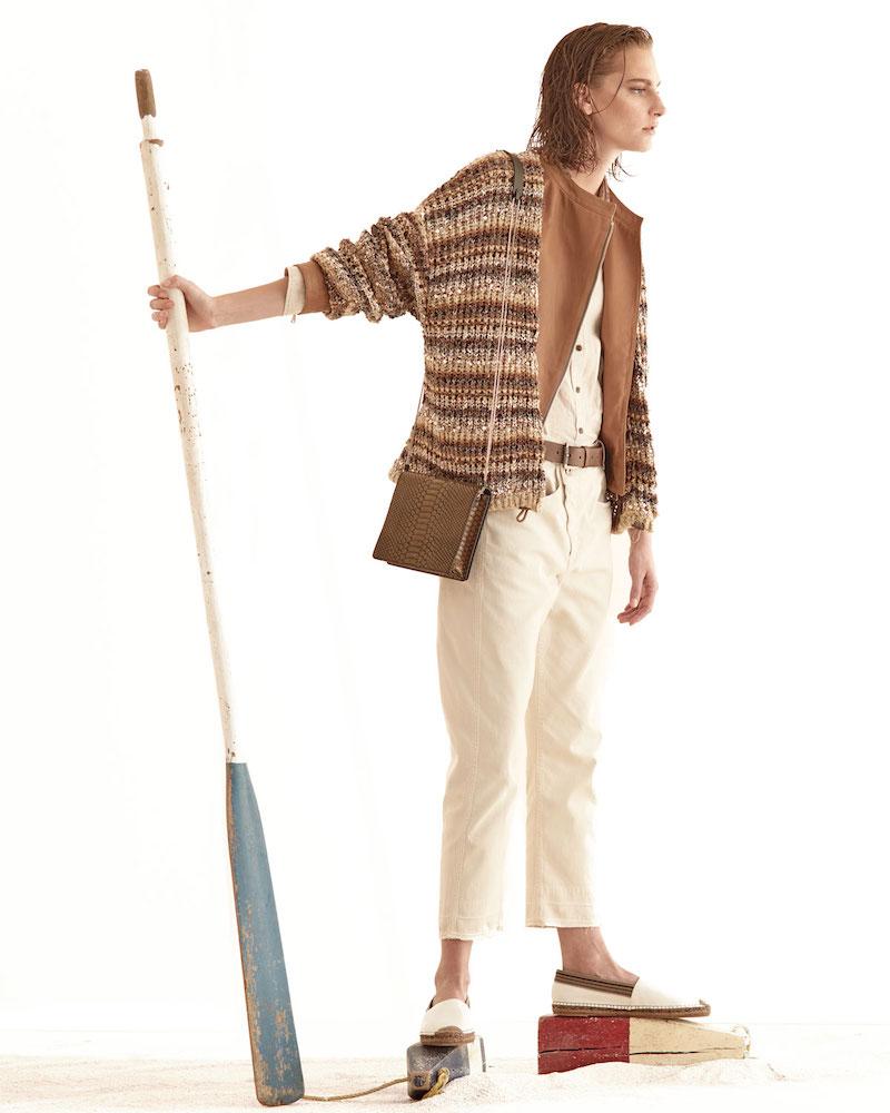 Brunello Cucinelli Zip-Front Napa Leather Jacket