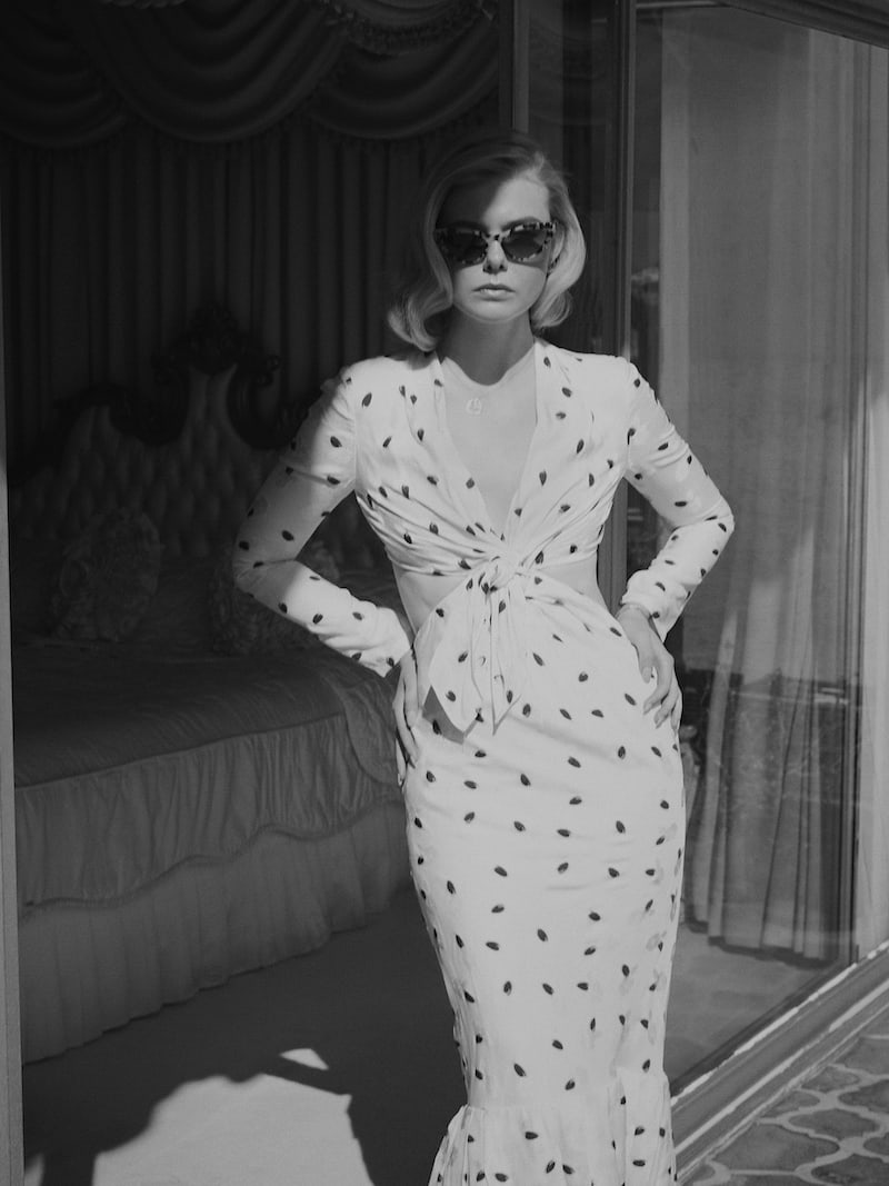 Carolina Herrera Cutout Jacquard Midi Dress