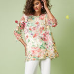 Caroline Rose Sunshine State Mulitcolor Embroidered Tunic
