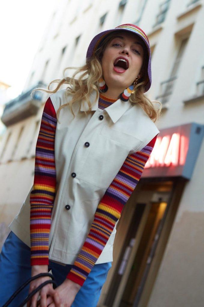 Etudes Juliette Striped Sweater