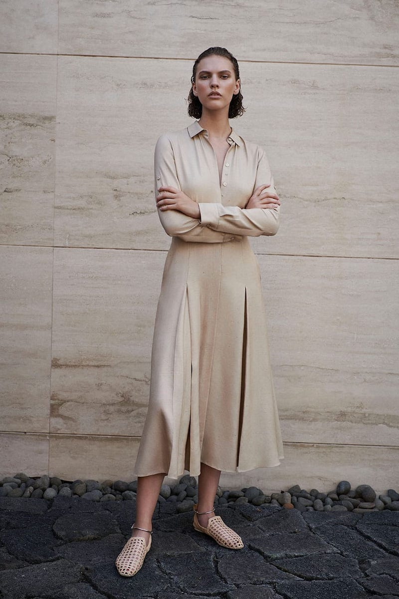 Gabriela Hearst Mariano Silk-Shantung Midi Dress