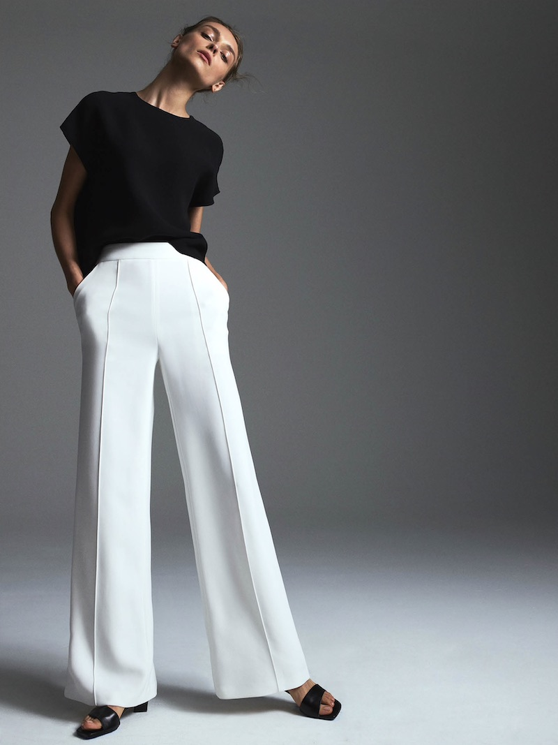 Lisa Perry Crepe Wide-Leg Trousers