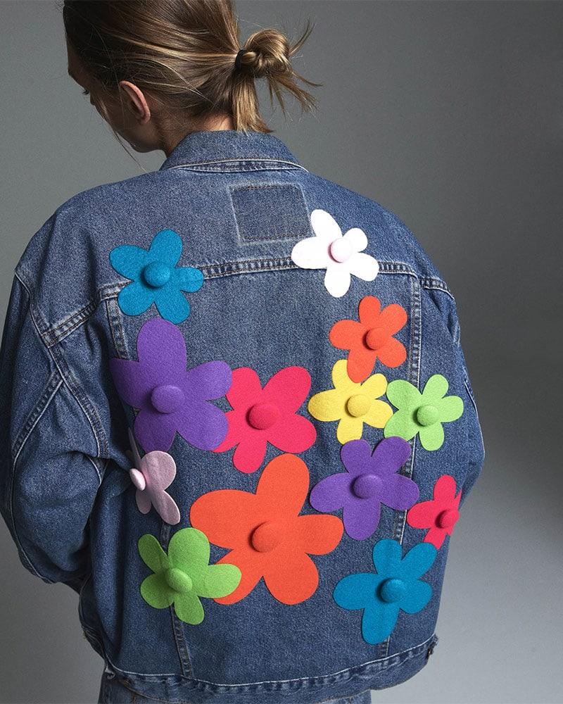 Lisa Perry Fleurty Oversized Denim Jacket