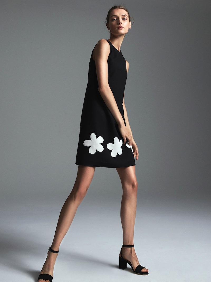 Lisa Perry Fleurty Wool A-Line Dress 1