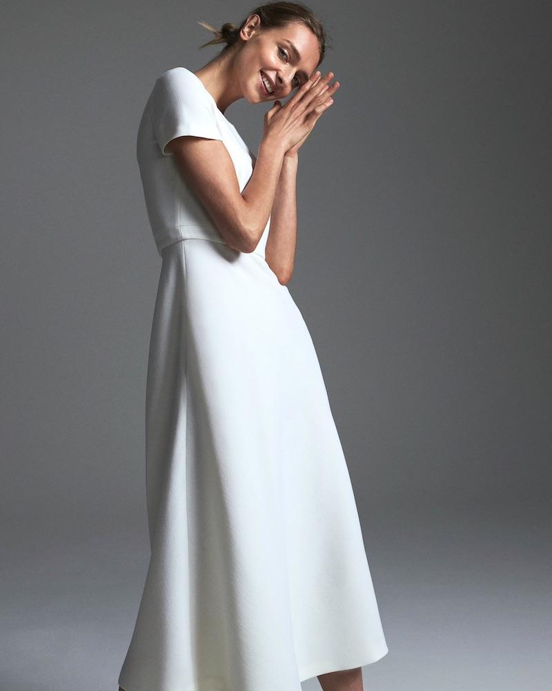 Lisa Perry Wool Crepe Dress
