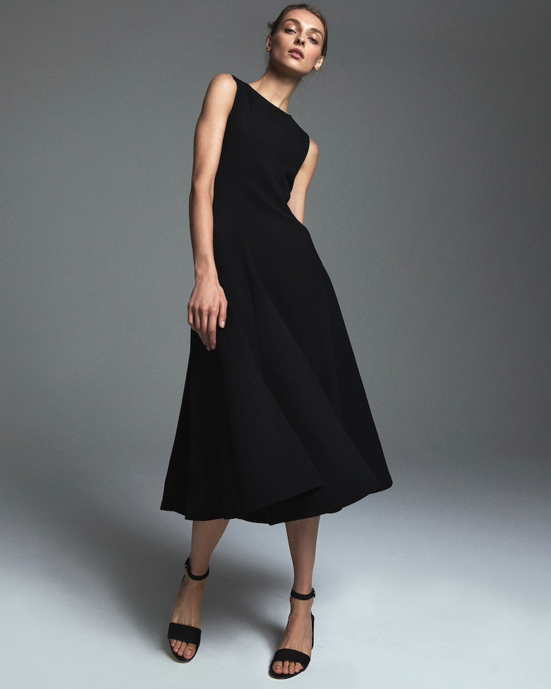 Lisa Perry Wow Wool Crepe Fit & Flare Dress