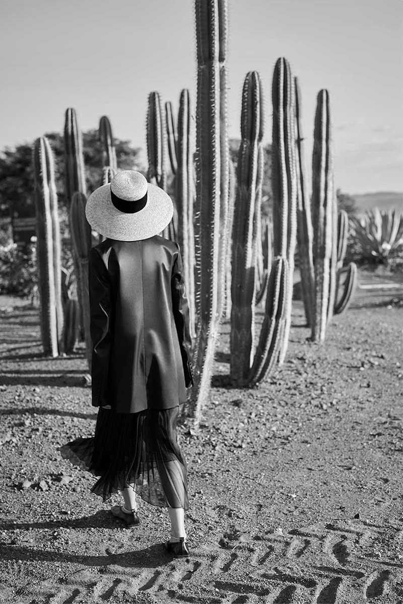 Marina Moscone Plisse Organza-Voile Midi Skirt