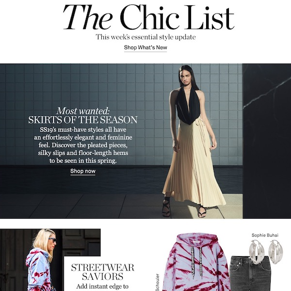NET-A-PORTER The Chic List March 31, 2019