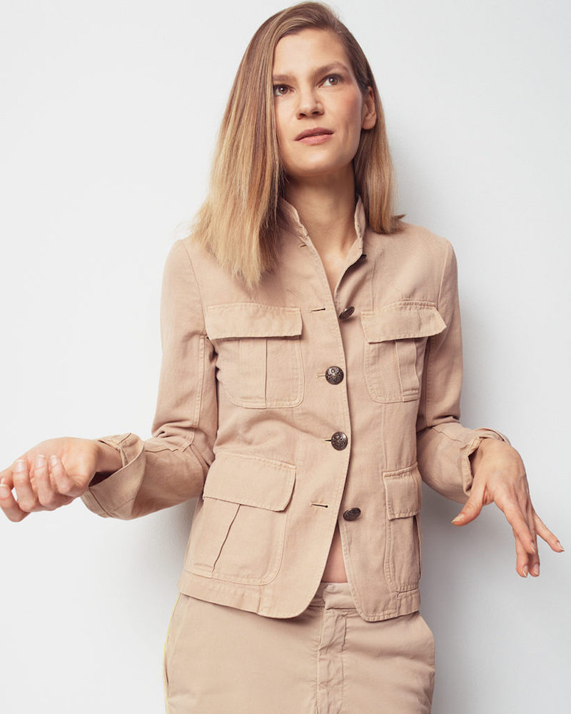 Nili Lotan Cambre Cotton-Linen Field Jacket