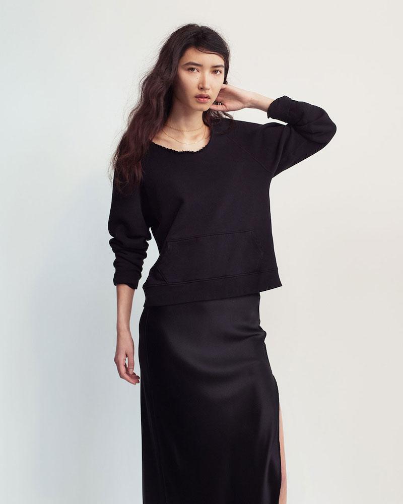 Nili Lotan Tiara Cotton Terry Sweatshirt