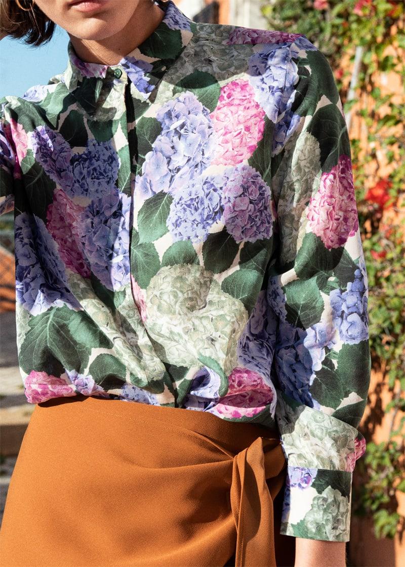 & Other Stories Sarong Wrap Midi Skirt