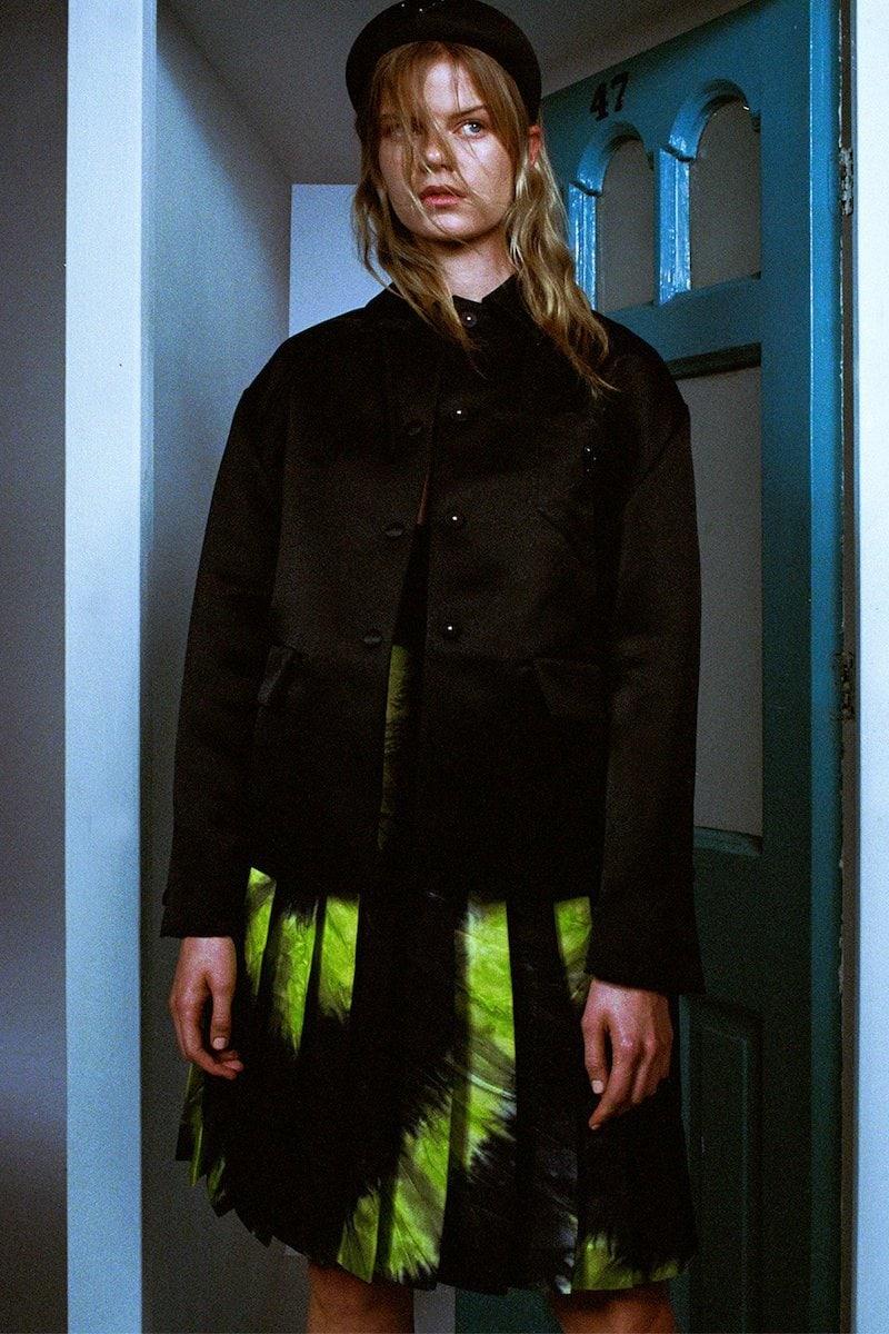 Prada Bow-Trim Technical Silk-Satin Jacket