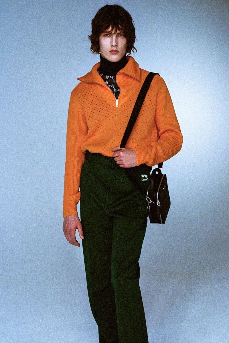 Prada Half-Zip Cotton Sweater