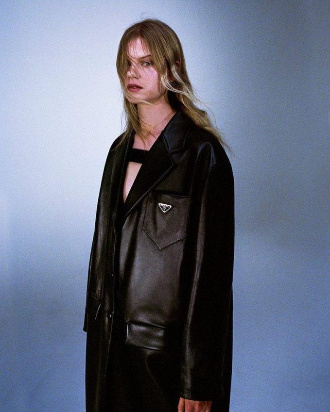 Prada Strapped Stretch-Jersey Bodysuit