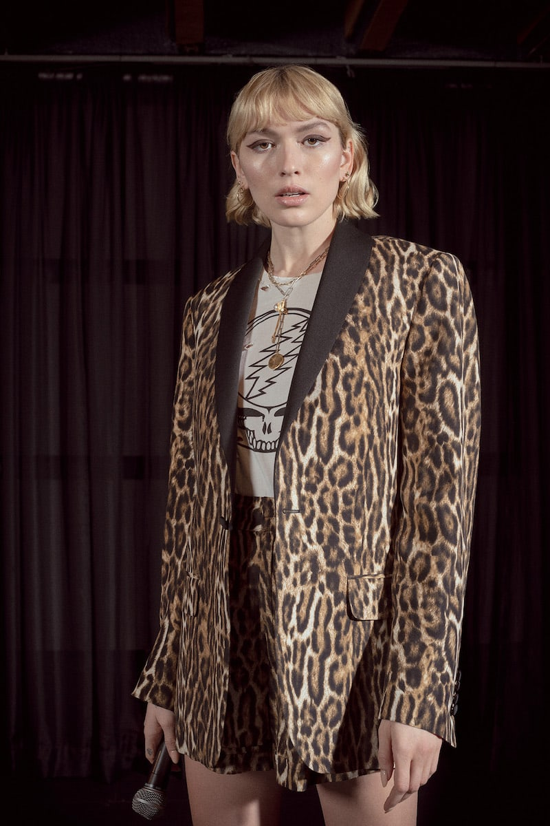 R13 Satin-Trimmed Leopard-Print Tuxedo Jacket