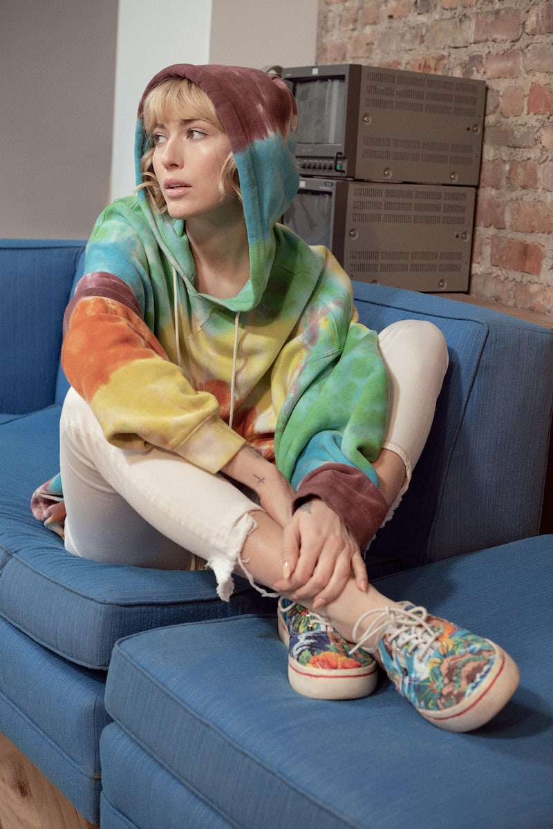 R13 Tie-Dyed Cotton-Blend Hoodie