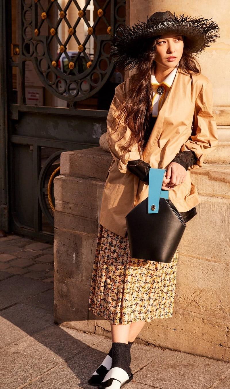 Roseanna Floral Midi Skirt